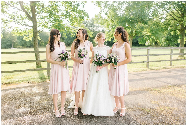 bride,bridesmaids,east horton wedding,hampshire wedding photographer,winchester wedding photographer,