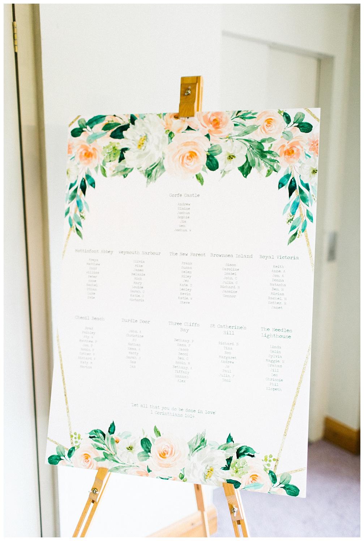 east horton wedding,hampshire wedding photographer,table seating chart,tables,wedding breakfast,wedding reception,winchester wedding photographer,