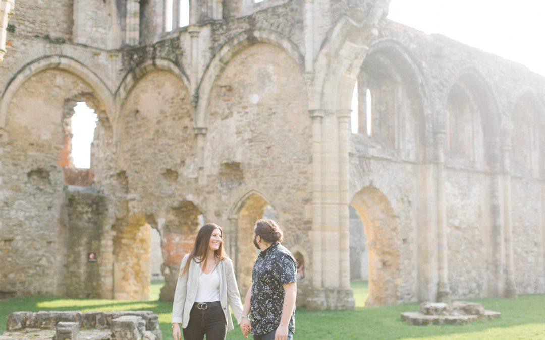 Netley Abbey Engagement Shoot
